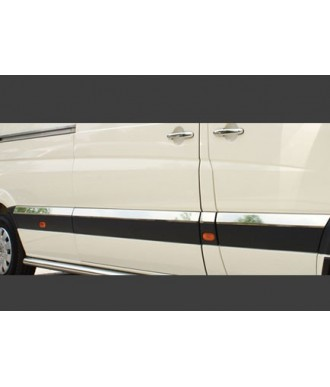 Baguette de protection porte INOX-VW CRAFTER-CHASSIS-L2-2006-2017-