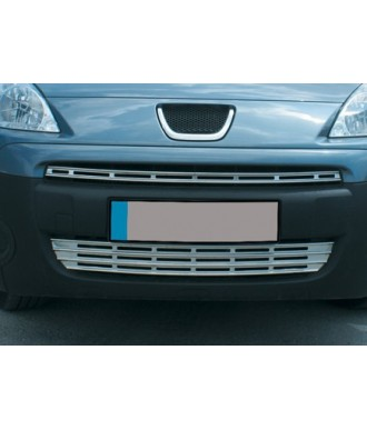 elements grille de calandre INOX (2 pieces) PEUGEOT PARTNER TEPEE (2008-2015)