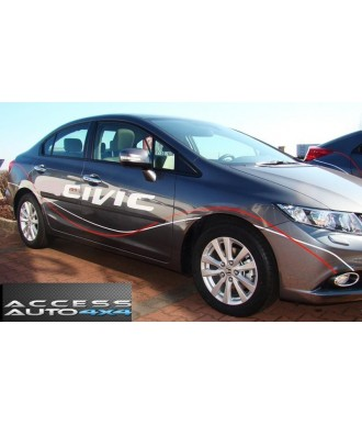 Baguettes Protection Porte ABS-HONDA-CIVIC-4-PORTES-2012-2015