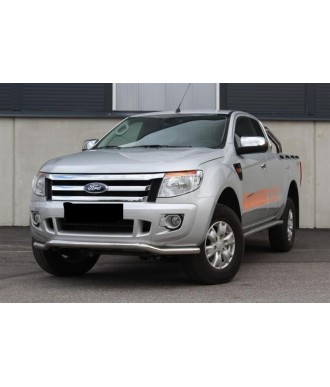 PARE BUFFLE-FORD-RANGER-2012-2018-INOX - PROTECTION BASSE