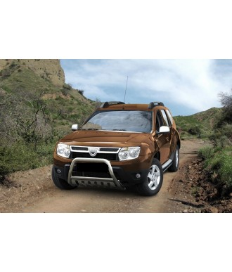 PARE BUFFLE-DACIA-DUSTER-2010-2017 HOMOLOGUE INOX - PLAQUE
