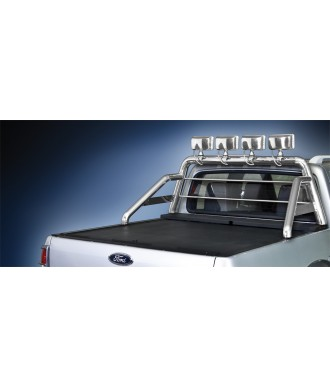 ROLL BAR INOX DOUBLE BARRES-FORD-RANGER-2007-2012-