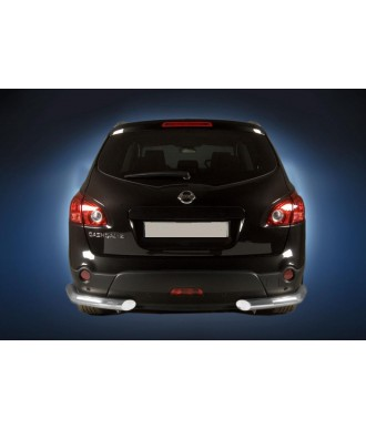 Protection  ARRIERE-NISSAN-QASHQAI-2007-2013-INOX ANGLES 70mm