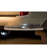Protection  ARRIERE TOYOTA LAND CRUISER 200 2007-2012 INOX ANGLES 70mm
