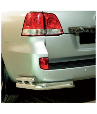 Protection  ARRIERE TOYOTA LAND CRUISER 200 2007-2012 INOX ANGLES DOUBLE BARRES 70mm