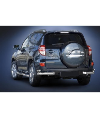 Protection ARRIERE TOYOTA -RAV-4-2006-2011 INOX DOUBLE BARRES 70mm