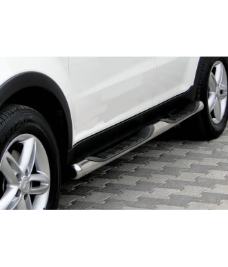 Marche pieds-SSANGYONG-KORANDO-2010-2019 INOX Tubulaire DRG 76mm