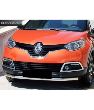 PARE BUFFLE-RENAULT-CAPTUR-2012-2018-INOX- PROTECTION BASSE