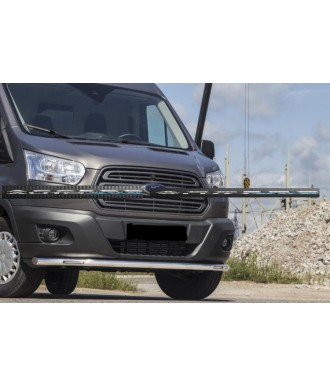 PARE BUFFLE-FORD-TRANSIT-2014-2018-INOX PROTECTION BASSE-LED