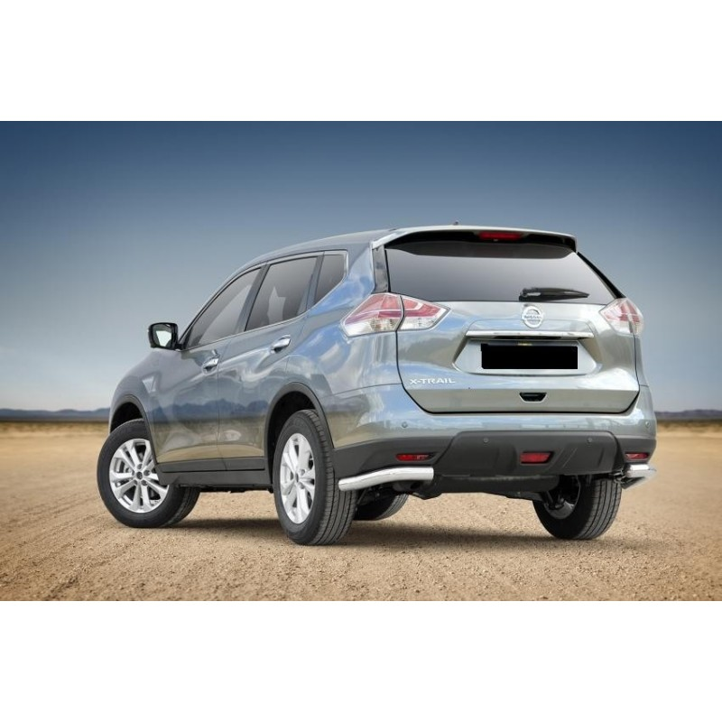 protection pc arriere inox angles nissan x trail 2014 2016. Black Bedroom Furniture Sets. Home Design Ideas