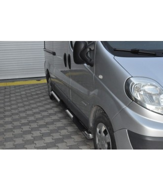 marche pieds-OPEL-MOVANO-LONG-2010-2019-INOX Tubulaire DLX
