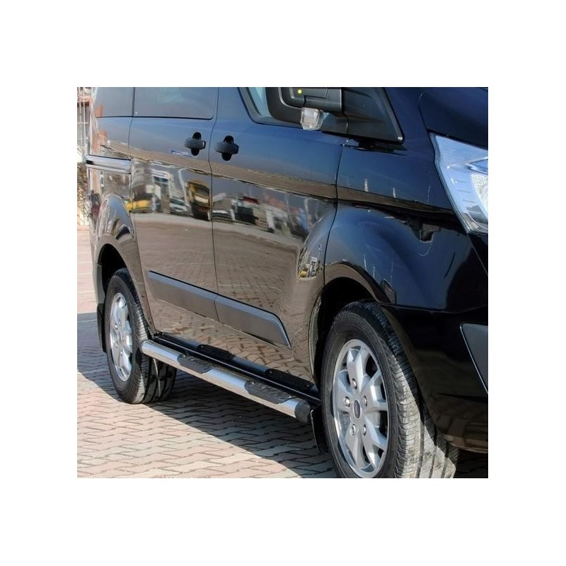 marche pieds inox tubulaire SPR (70mm)-FORD-TRANSIT-COURT