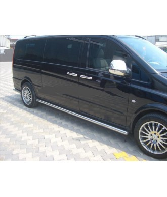 marche pieds inox tubulaire-LNE-MERCEDES-VITO-W639-EXTRA-LONG-