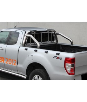 ROLL BAR INOX DOUBLE BARRES-FORD-RANGER-2012-2018