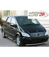 marche pieds inox tubulaire-MERCEDES-VITO-W-639-EXTRA-LONG-