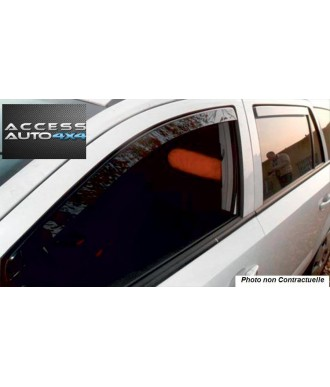 Déflecteurs d'Air AVANT + ARRIERE-JEEP-COMPASS-2006-2012-