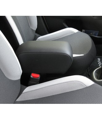 ACCOUDOIR CENTRAL SIMILI CUIR NOIR-PEUGEOT-108-