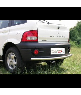 Protection-ARRIERE-SSANGYONG-ACTYON-2007-2012 INOX ANGLES 60mm