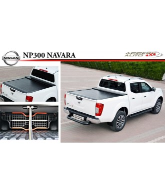 COUVRE-BENNE-COULISSANT-NISSAN-NAVARA-NP-300-DOUBLE-CABINE-2016-AUJOURD'HUI-