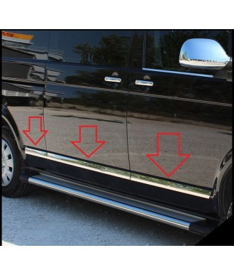 Baguette de protection porte INOX VW T6-COURT-1-porte-laterale-