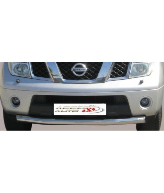 PARE BUFFLE-NISSAN-NAVARA-D40-2005-2010-INOX Protection Basse 76mm