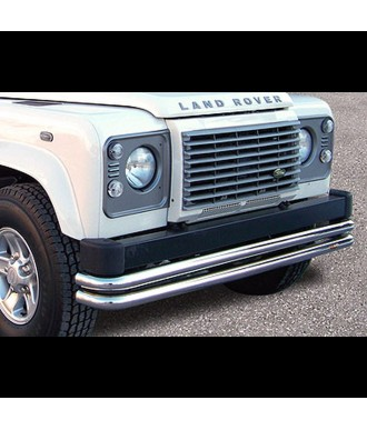 PARE BUFFLE-LAND-ROVER-DEFENDER-90-INOX PROTECTION BASSE