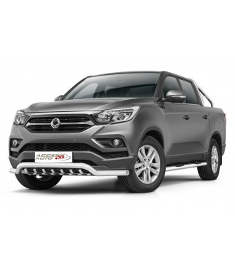 PARE BUFFLE-SSANGYONG-MUSSO-2018-AUJOURD'HUI-HOMOLOGUE INOX  Protection Basse - Grille