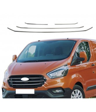 Element-grille calandre-FORD TOURNEO CUSTOM-2018-AUJOURD'HUI-INOX CHROME 4 PIECES