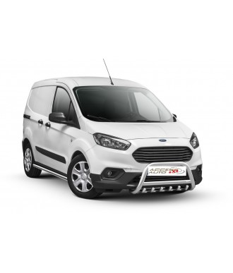 PARE BUFFLE-FORD-COURIER-2018-AUJOURD'HUI- HOMOLOGUE INOX  - GRILLE