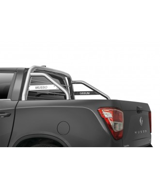 ROLL BAR-SSANGYONG-MUSSO-2018-AUJOURD'HUI-INOX DOUBLE BARRES