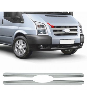 Element Grille Calandre FORD TRANSIT -2006-2014-INOX CHROME 2 PIECES