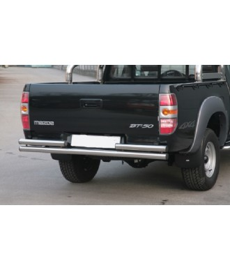 PROTECTION ARRIERE MAZDA BT 50 2007-2012 INOX DOUBLE BARRES 63mm