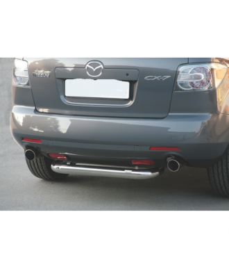 PROTECTION ARRIERE MAZDA CX 7 2008-2010 INOX  76mm