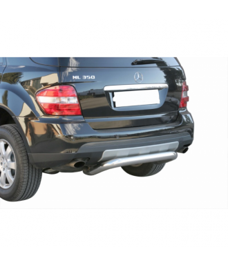 PROTECTION ARRIERE MERCEDES ML 2005-2011 INOX  76mm