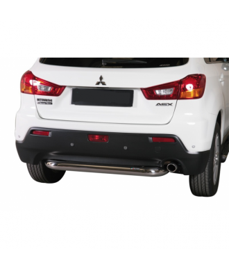 PROTECTION ARRIERE MITSUBISHI ASX 2012-2016 INOX  76mm