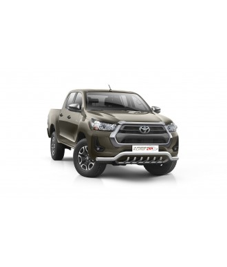 PARE BUFFLE-TOYOTA-HI-LUX-2021-AUJOURD'HUI-HOMOLOGUE INOX - PROTECTION BASSE - GRILLE