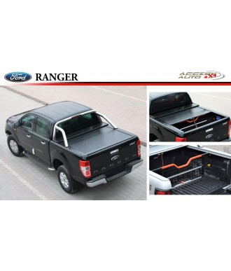 COUVRE-BENNE-COULISSANT-FORD-RANGER-XLT DOUBLE-CABINE-2012-2018
