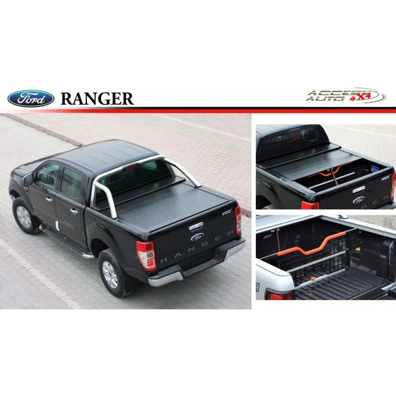 COUVRE-BENNE-COULISSANT-FORD-RANGER-XLT DOUBLE-CABINE-2018-AUJOURD'HUI