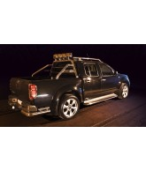 ROLL BAR INOX SIMPLE BARRE + Feux Rectangulaires-NAVARA-D40-