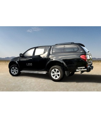 Protection ARRIERE-MITSUBISHI-L-200-2006-2015 INOX ANGLES 70mm