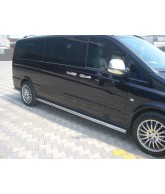 marche pieds inox tubulaire-LNE-MERCEDES-VITO-W639-COURT-LONG-