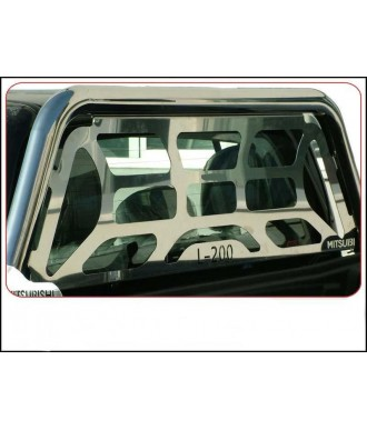 ROLL BARS INOX SIMPLE BARRE + SEPARATION-MITSUBISHI-L-200-2006-2015-