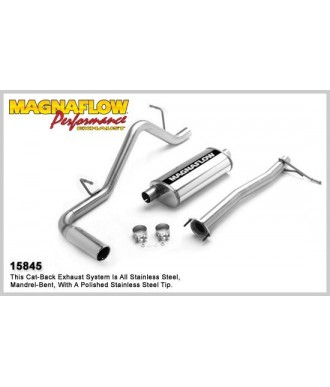 Ligne Echappement Performance Inox Cat Back