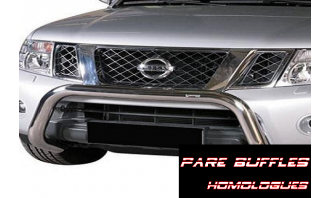 Pare Buffle Inox-Homologué-FORD-COURIER-